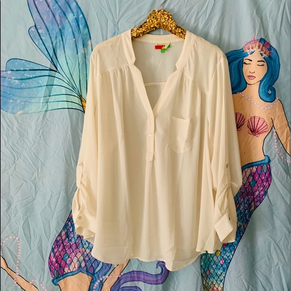 90fd8a003 ModCloth Pam Breeze-ly Long Sleeve Tunic in Ivory.  M_5c71e06d7386bc01f75552b8